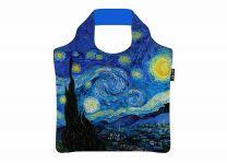 ECOZZ - Gold edition - De Sterrennacht - Vincent van Gogh - GCVG01 - opvouwbare tas met rits van rPET