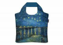 ECOZZ Starry Night over the Rhone Vincent van Gogh - EAN 8594176443003 - GCVG07 - opvouwbare tas met rits van gerecycled plastic - shopper - boodschappentas - eco fashion - green fashion - sustainable fashion - eco brand - green brand - sustainable brand
