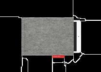 Manon Garritsen - iPad mini hoes - basis hoes - gemeleerd grijs