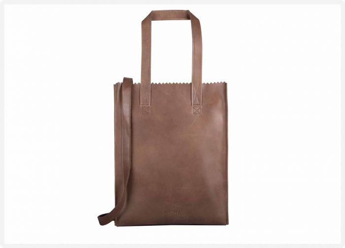 8feea086ad3 MYOMY - My Paper Bag Deluxe office - Hunter waxy original - eco leren  business bag