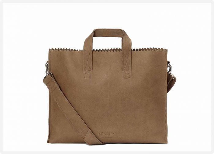 58505e3dc06 MYOMY - My Paper Bag Business Bag - Hunter original - eco leren werktas -  eco