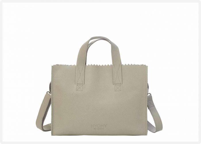 2c3e8bff07c MYOMY My Paper Bag Handbag Crossbody - Rambler grey - eco leren crossbody  tas - eco