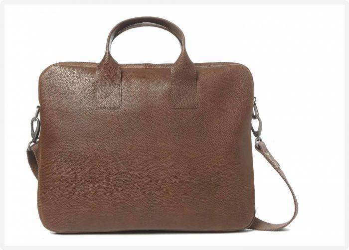 e3e516d633d MYOMY - My Philip Bag Laptop Bag - Rambler brandy - achterzijde eco leren  laptoptas met