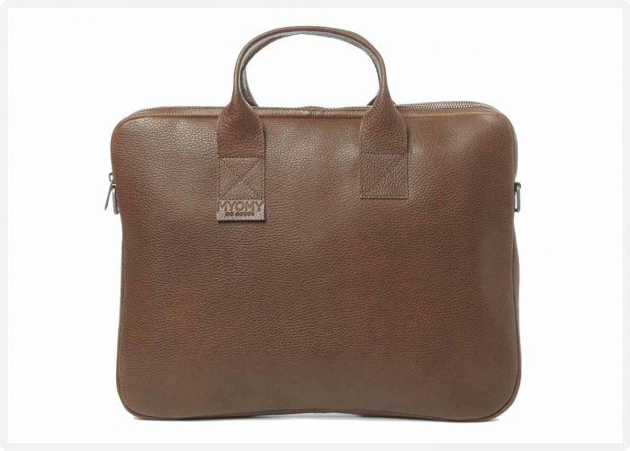 7a664780a78 MYOMY - My Philip Bag Laptop Bag - Rambler brandy - voorzijde eco leren  laptoptas