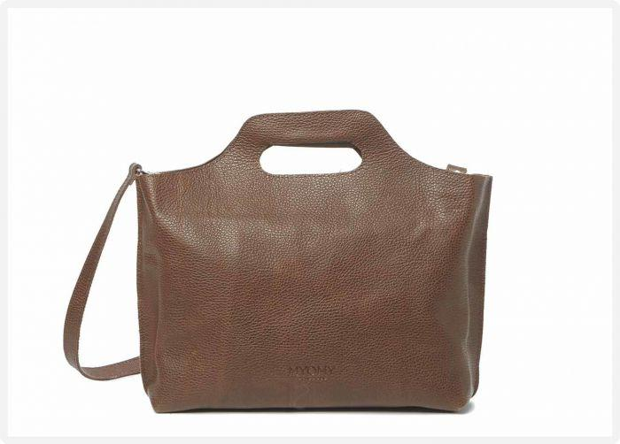 a921c6fd550 MYOMY My Carry Bag Handbag regular - rambler brandy - eco leren handtas  -fairtrade geproduceerd