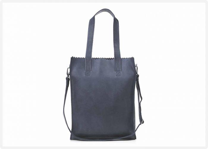 f6aff1ba7af MYOMY My Paper Bag Deluxe office - Hunter blue grey - eco leren business  bag -