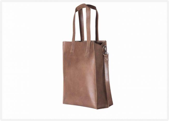 25f961e8426 MYOMY - My Paper Bag Deluxe office - Hunter waxy original - eco leren  business bag