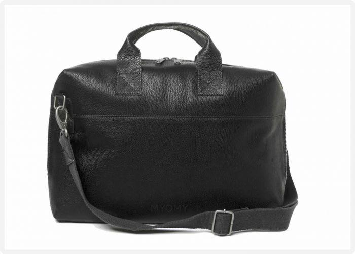 ccce6088d9d MYOMY My Philip Bag Business Bag - Rambler black - eco leren aktetas -  fairtrade fashion