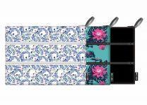 ECOZZ - Zip pocket serie - etuis met 3 afsluitbare vakken gemaakt van rPET