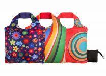ECOZZ Crazy serie - opvouwbare boodschappentassen met rits van rPET